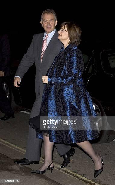 Tony Cherie Blair Attend Margaret Thatcher'S 80Th Birthday Party At The Mandarin Oriental Hotel In London'S Knightsbridge