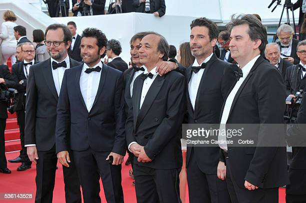 Tony Comiti and guests attend the Premiere of 'Dheepan' during the 68th Cannes Film Festival on May 21 2015 in Cannes France