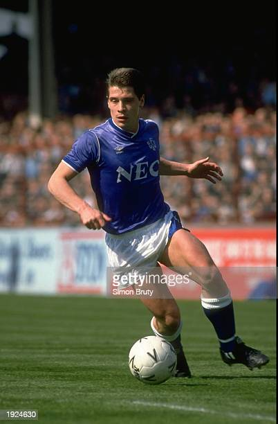 Tony Cottee of Everton in action during the FA Cup semifinal against Norwich City at Goodison Park in Liverpool England Mandatory Credit Simon...