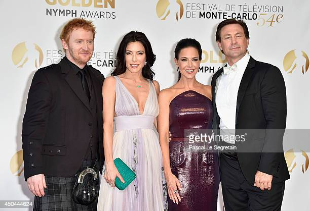 Tony Curran, Jaime Murray, Julie Benz and Grant Bowler arrive at the closing ceremony of the 54th Monte-Carlo Television Festival on June 11, 2014 in...