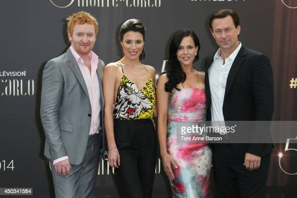 Tony Curran Jaime Murray Julie Benz and Grant Bowler attend 'Defiance' photocall at the Grimaldi Forum on June 9 2014 in MonteCarlo Monaco