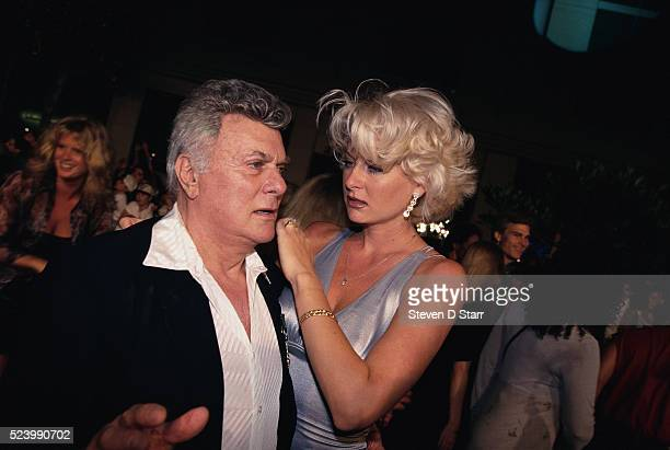 Tony Curtis and Jill Vandenberg at Planet Hollywood Opening