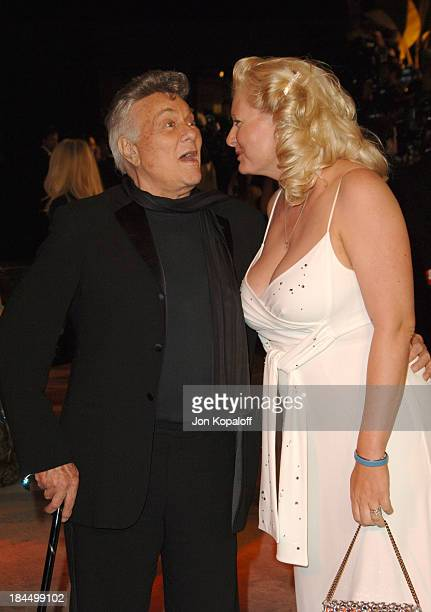 Tony Curtis and Jill Vandenberg Curtis during 2006 Vanity Fair Oscar Party at Morton's in West Hollywood, California, United States.