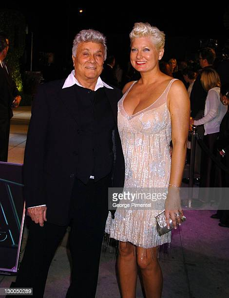 Tony Curtis and Jill Vandenberg during 2004 Vanity Fair Oscar Party - Arrivals at Mortons in Beverly Hills, California, United States.