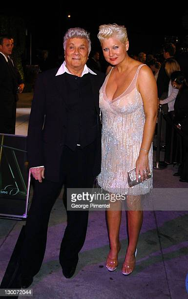 Tony Curtis and Jill Vandenberg during 2004 Vanity Fair Oscar Party Arrivals at Mortons in Beverly Hills California United States