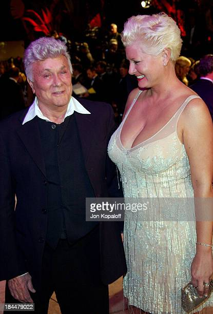 Tony Curtis and wife Jill Vandenberg during 2004 Vanity Fair Oscar Party at Mortons in Beverly Hills California United States