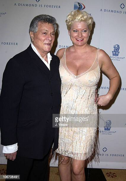 """Tony Curtis and wife Jill Vandenberg during """"Diamonds and the Power of Love"""" Exhibit Opening at the New Ritz Carlton Lake Las Vegas Hotel at Ritz..."""