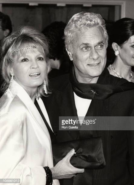 Tony Curtis Angie Dickinson during AFI Lifetime Achievement Award to Billy Wilder at Beverly Hilton Hotel in Beverly Hills California United States