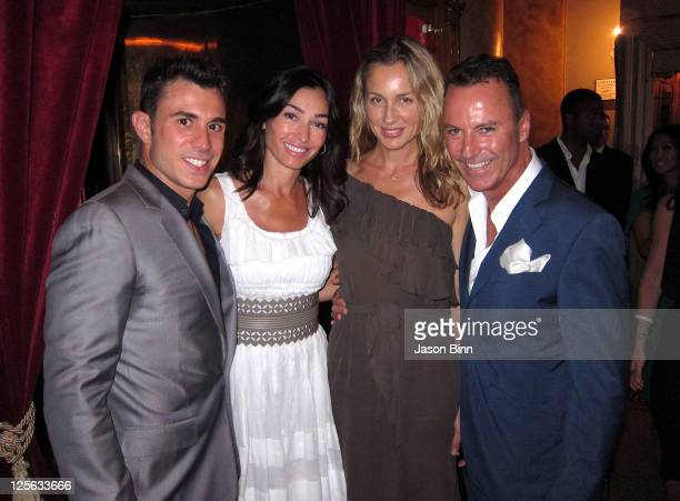 Tony Curtis Dara Tomanovich guest and Colin Cowie attend a welcome party for newlyweds Kim Kardashian and Kris Humphries hosted by Colin Cowie and...