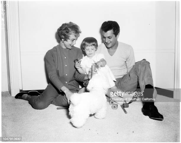 Tony Curtis Janet Leigh And Their Daughter Kelly Lee Curtis