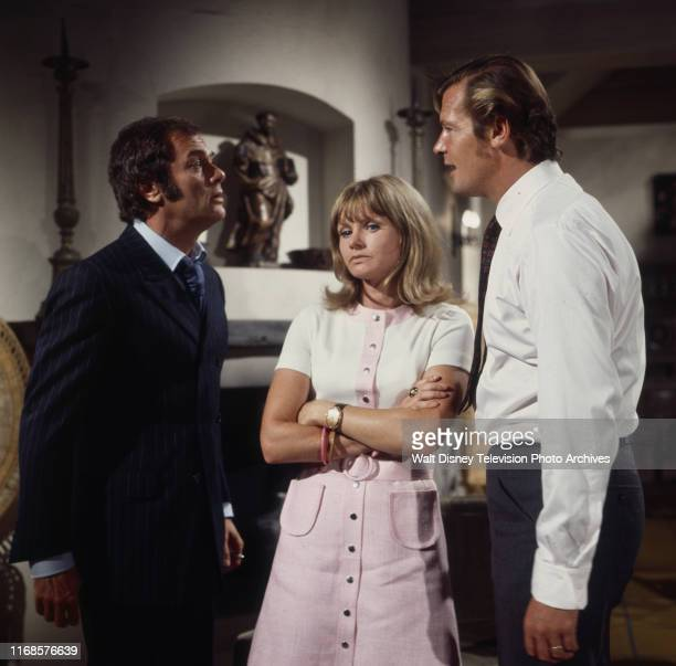 Tony Curtis Jennie Linden Roger Moore appearing in the ABC tv series 'The Persuaders' episode 'To the Death Baby'