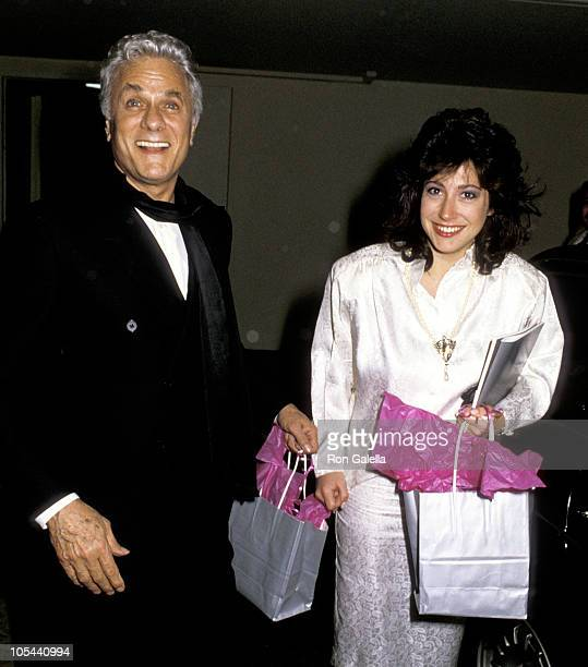 Tony Curtis Ms Jacobson during AFI Lifetime Achievement Award to Billy Wilder at Beverly Hilton Hotel in Beverly Hills California United States