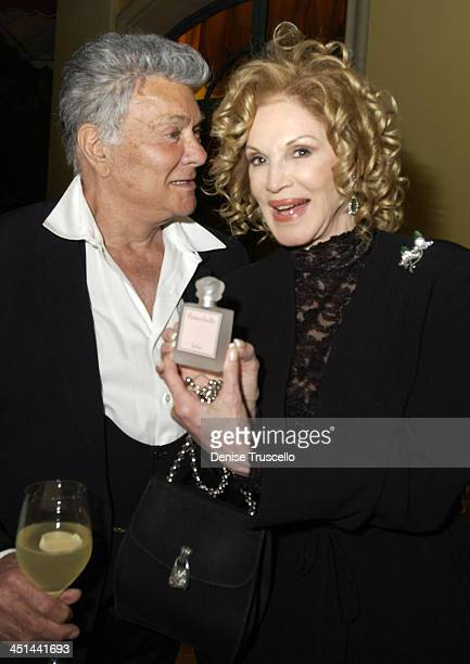 Tony Curtis Phyllis McGuire during Flowerbelle Perfume Launch Designed By Jeneva Bell at Bellagio Hotel in Las Vegas Nevada United States