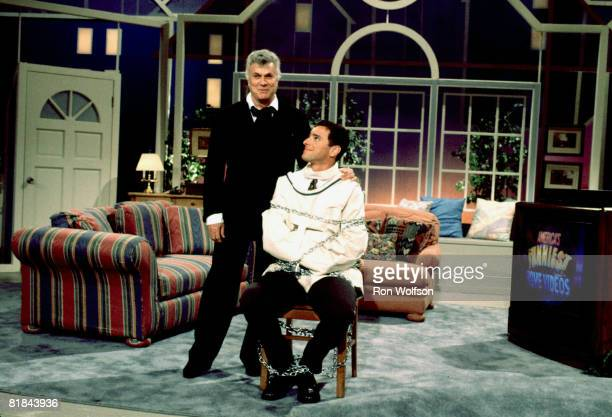 Tony Curtis with Bob Saget host of 'America's Funniest Home Videos'