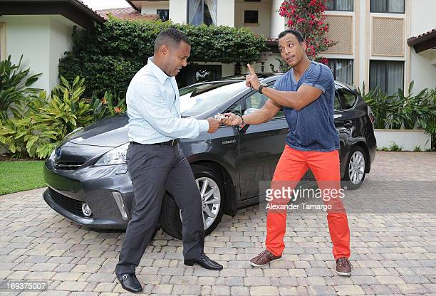 Tony Dandrades and Jon Secada are seen launching the #goPrius Toyota Prius campaign on May 23 2013 in Miami Florida