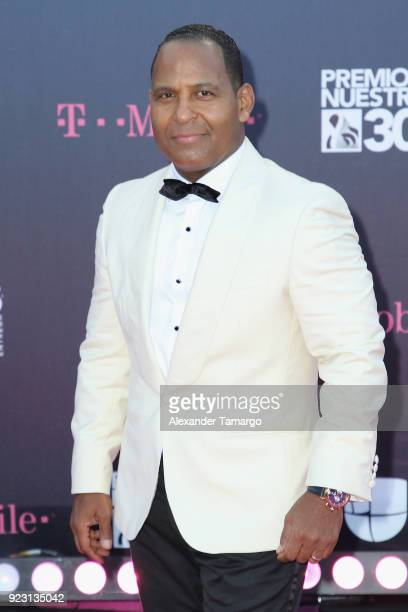 Tony Dandrades attends Univision's 30th Edition Of 'Premio Lo Nuestro A La Musica Latina' at American Airlines Arena on February 22 2018 in Miami...