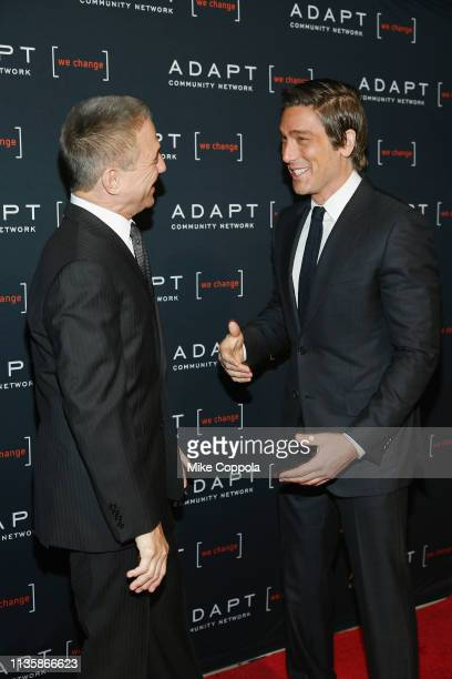 Tony Danza and David Muir attend the 2019 2nd Annual ADAPT Leadership Awards at Cipriani 42nd Street on March 14 2019 in New York City