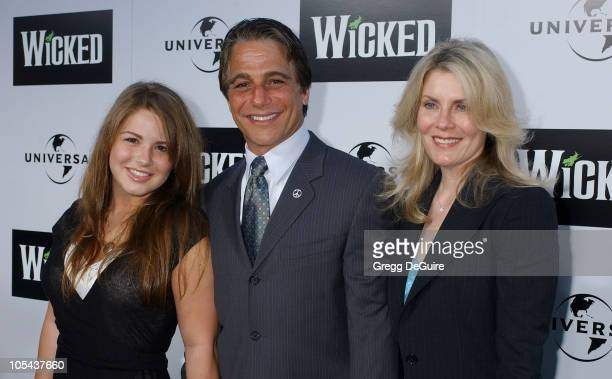 Tony Danza and family during Wicked Los Angeles Opening Night Arrivals at The Pantages Theatres in Los Angeles California United States