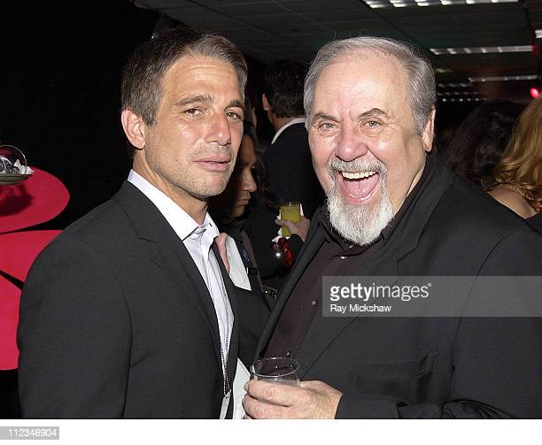 Tony Danza and George Schlatter during The 9th Annual Race to Erase MS CoChaired by Nancy Davis Tommy HilfigerSilent Auction at The Century Plaza...