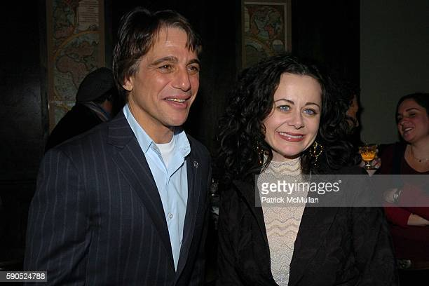 Tony Danza and Geraldine Hughes attend Opening Night Cast Party for Belfast Blues at The Culture Project on January 20 2005 in New York City
