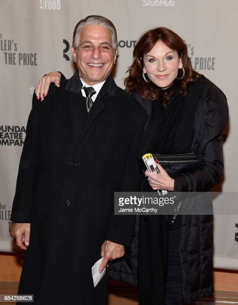 Tony Danza and Marilu Henner attend the Arthur Miller's The Price Broadway Opening Night at American Airlines Theatre on March 16 2017 in New York...