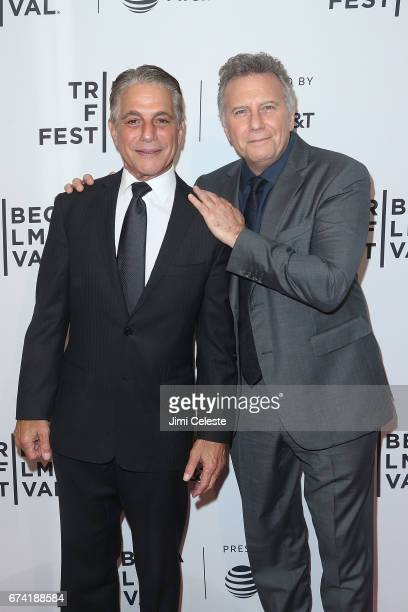 Tony Danza and Paul Reiser attend the There'sJohnny Premiere 2017 Tribeca Film Festival at SVA Theatre 2 on April 27 2017 in New York City