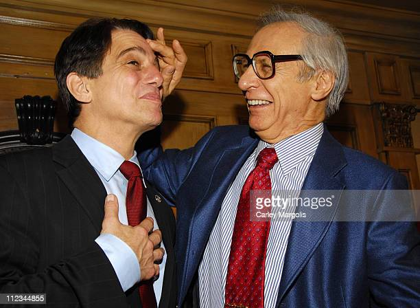 Tony Danza and The Amazing Kreskin during Tony Danza Speaks at the Friars Club Celebrity Luncheon Series - March 14, 2007 at Friars Club in New York...