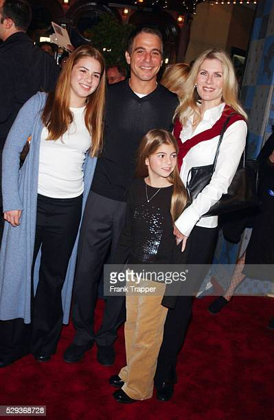 "Tony Danza and wife Tracy Robinson with daughters Katie and Emily at the premiere of ""Harry Potter and the Sorcerer's Stone."""