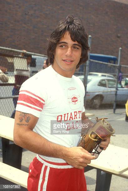 Tony Danza at a celebrity baseball game