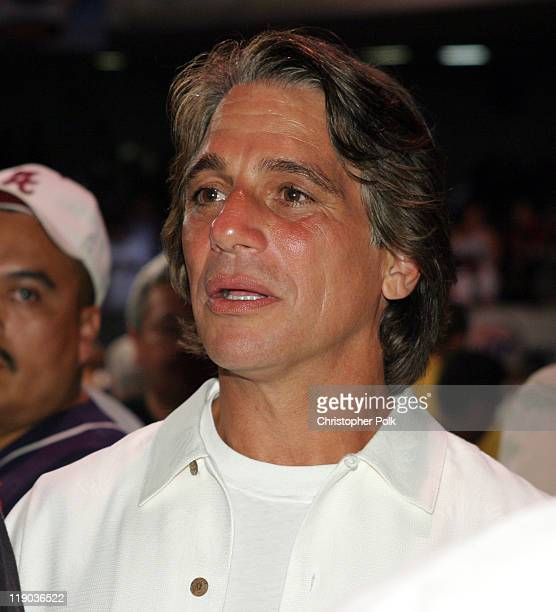 Tony Danza during Fernando Vargas vs Fitz Vanderpool Ringside at The Grand Olympic Auditorium in Los Angeles California United States