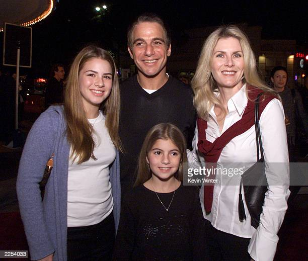 "Tony Danza, his wife Tracy and their daughters Katie and Emily at the premiere of ""Harry Potter and the Sorcerer's Stone"" in Los Angeles, Ca...."
