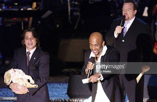 Tony Danza, Montel Williams & Tom Arnold during The 10th Annual Race to Erase MS - Show at The Century Plaza Hotel & Spa in Century City, California,...