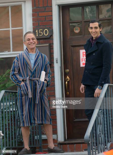 Tony Danza on the set of Netflix's drama series The Good Cop on January 19 2018 in New York City