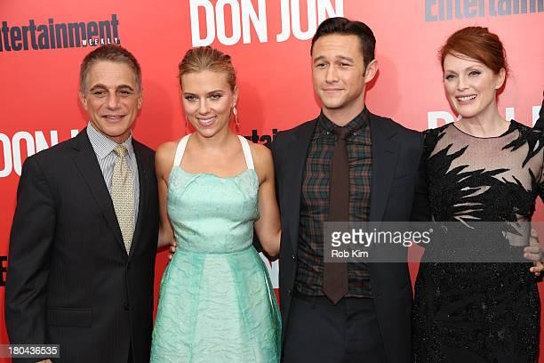 Tony Danza Scarlett Johansson Joseph GordonLevitt and Julianne Moore attend Don Jon New York Premiere at SVA Theater on September 12 2013 in New York...