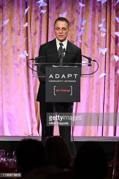 Tony Danza speaks onstage at the 2019 2nd Annual ADAPT Leadership Awards at Cipriani 42nd Street on March 14 2019 in New York City