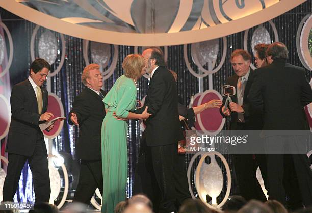 Tony Danza winner Medallion Award for 'Taxi' Johnny Whitaker and Sharon Stone presenters and James L Brooks Judd Hirsch Jeff Conaway and Randall...