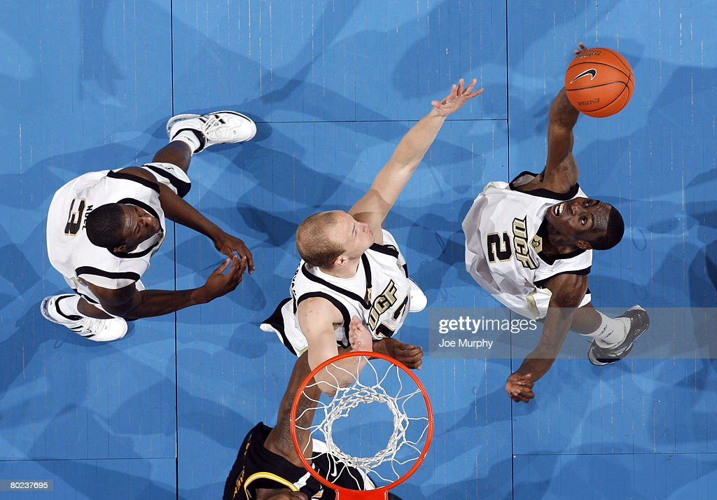 Tony Davis #2 of the UCF Knights pulls down a rebound against the Southern Miss Golden Eagles during the quarterfinals of the Conference USA Basketball Tournament at FedExForum on March 13, 2008 in Memphis, Tennessee. Southern Miss beat UCF