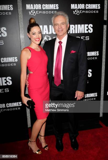 Tony Denison and guest at TNT's 'Major Crimes' 100th episode celebration at 71Above on October 7 2017 in Los Angeles California