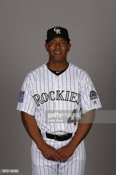 Tony Diaz of the Colorado Rockies poses during Photo Day on Thursday February 22 2018 at Salt River Fields at Talking Stick in Scottsdale Arizona