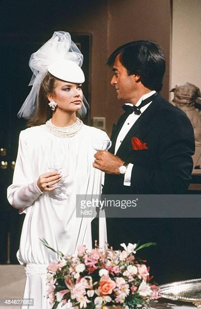 LIVES 'Tony DiMera Anna Brady Wedding' Pictured Leann Hunley as Anna Brady Thaao Penghlis as Tony DiMera