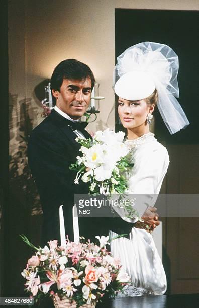LIVES 'Tony DiMera Anna Brady Wedding' Pictured Thaao Penghlis as Tony DiMera Leann Hunley as Anna Brady