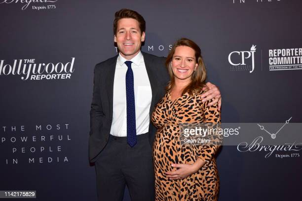 Tony Dokoupil and Katy Tur attend The Hollywood Reporter Celebrates The Most Powerful People In Media at The Pool on April 11 2019 in New York City
