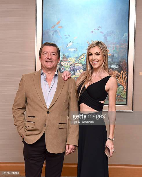 Tony Dominguez de Haro and Isabel Dominguez De Haro attend Underwater Dreams To Life In Color Art Exhibit Featuring Antonio Dominguez De Haro And...