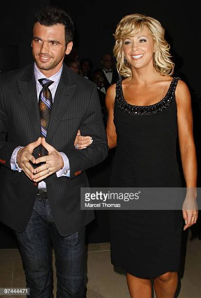 Tony Dovolani and Kate Gosselin attend the premiere of Discovery Chanel's Life at Alice Tully Hall Lincoln Center on March 4 2010 in New York New York