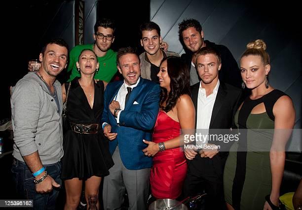 Tony Dovolani, Kym Johnson, David Arquette, Cheryl Burke, Rob Kardashian, Val Chmerkovskiy, Derek Hough and Peta Murgatroyd attend the Pre-Emmy Event...