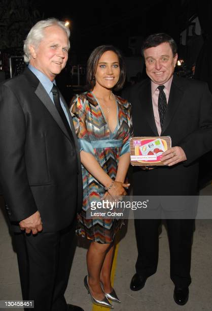 Tony Dow Amy Linker and Jerry Mathers during 5th Annual TV Land Awards Backstage at Barker Hangar in Santa Monica California United States