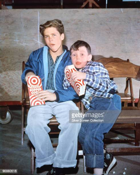 Tony Dow as Wally Cleaver and Jerry Mathers as Beaver Cleaver in the television series 'Leave It to Beaver circa 1960