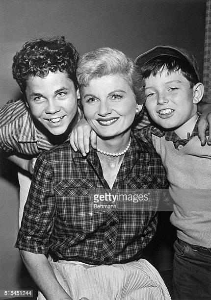 Tony Dow Barbara Billingsley and Jerry Mathers star together on the situation comedy Leave It to Beaver