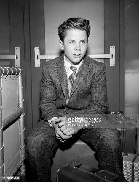 Tony Dow stars in the CBS television situation comedy Leave It To Beaver episode 'Train Trip' Image dated February 28 1958 Los Angeles CA Original...