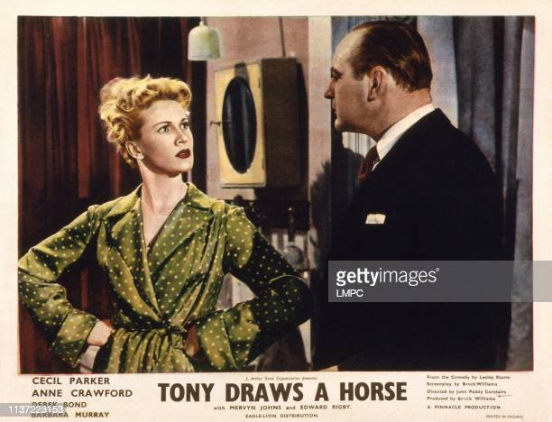 Tony Draws A Horse US lobbycard from left Anne Crawford Cecil Parker 1950